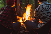 istock A couple roast marshmallows together 1178217558