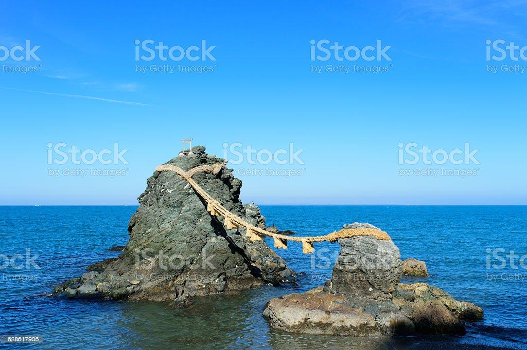 Couple rock stock photo