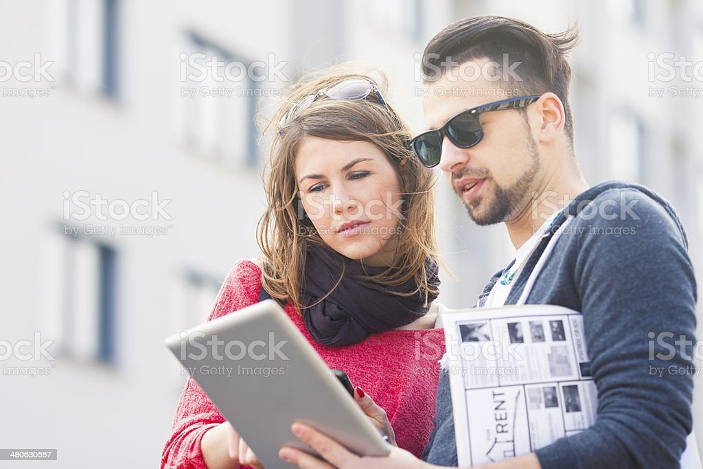 Couple searching for a home stock photo