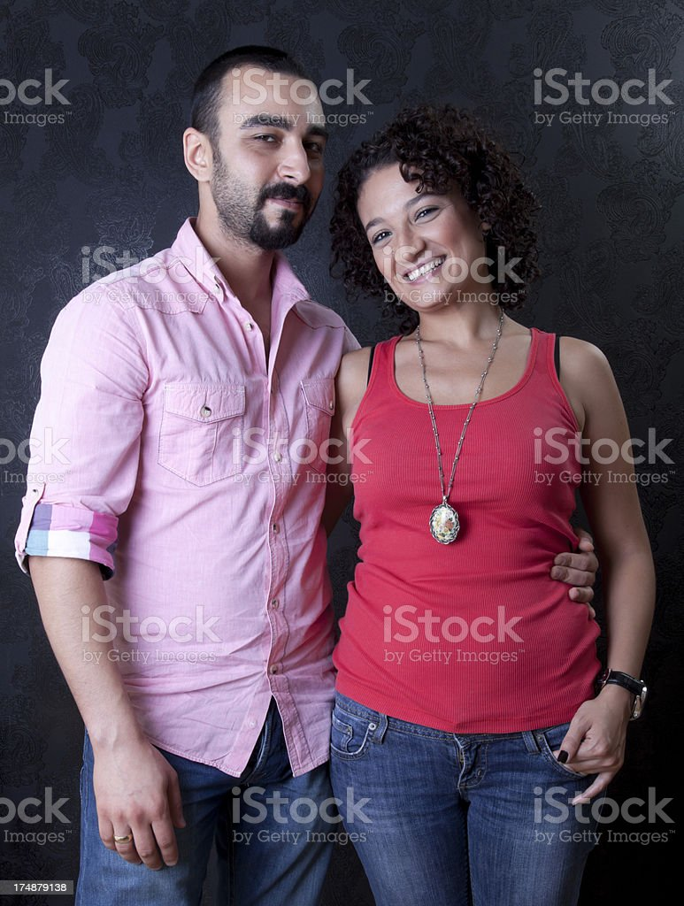 Couple Series on black wallpaper royalty-free stock photo