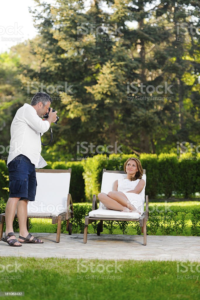 couple shooting royalty-free stock photo