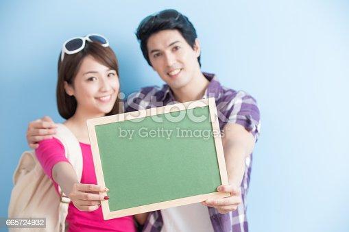 528291188 istock photo couple show chalkboard 665724932