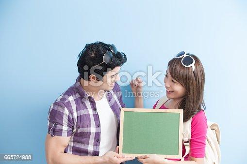 528291188 istock photo couple show chalkboard 665724988