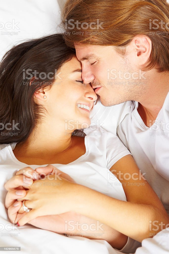 most romantic bedroom kisses. Couple Showing Romance On Bed Royalty-free Stock Photo Most Romantic Bedroom Kisses A