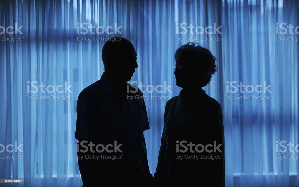 Couple silhouette royalty-free stock photo