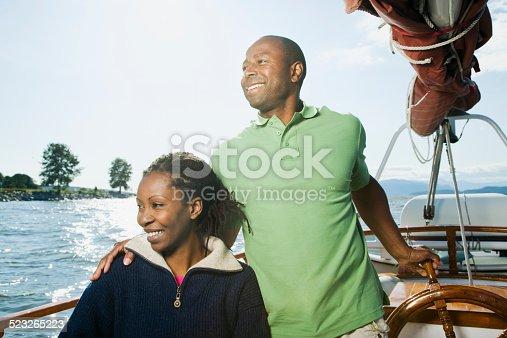 Couple Sitting on Sailboat