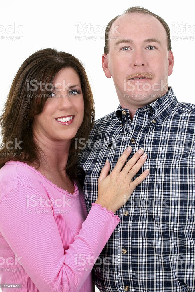 Couple Smiling royalty-free stock photo
