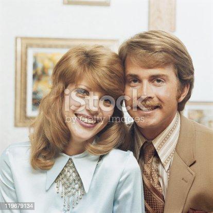 istock Couple smiling, portrait 119679134