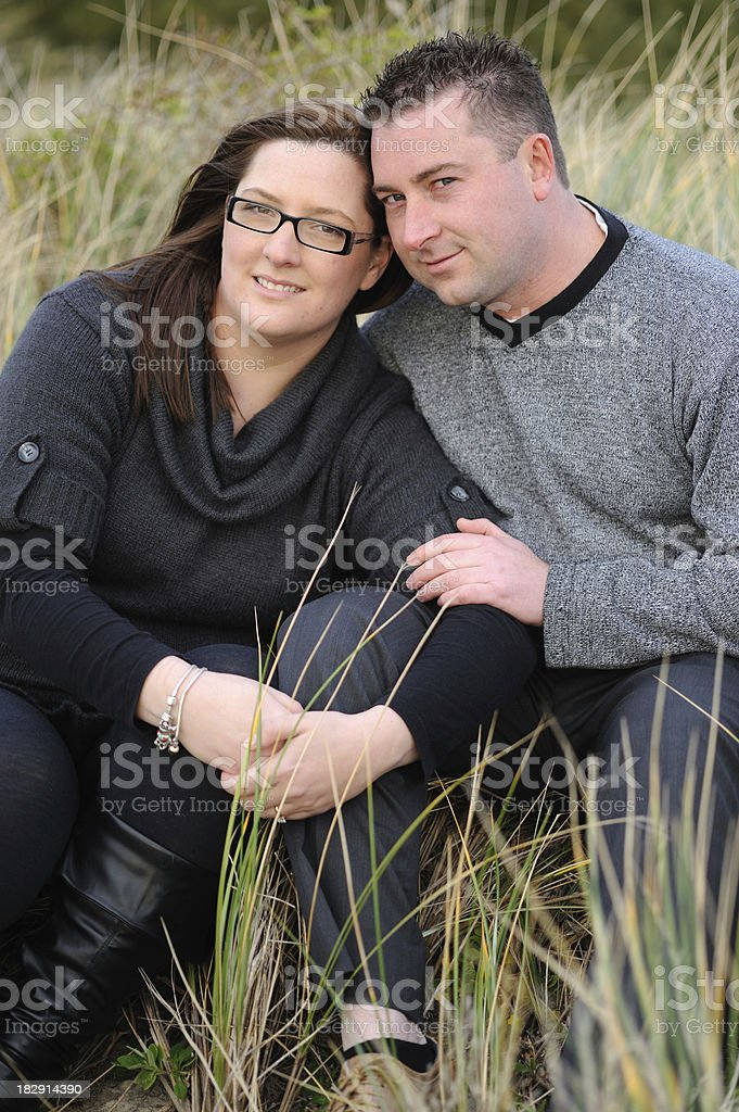 Couple smiling together royalty-free stock photo