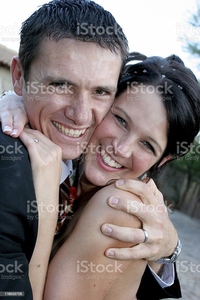 Couple Squeeze royalty-free stock photo