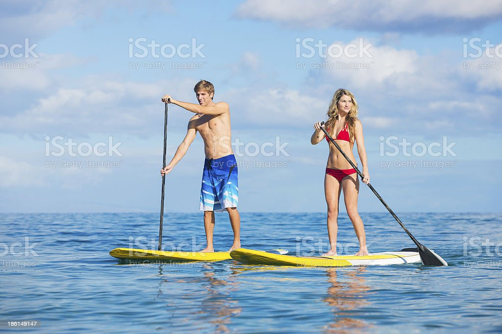 Paar Stand-Up-Paddling in Hawaii – Foto