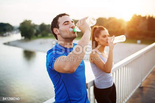 istock Couple staying hydrated 541266240