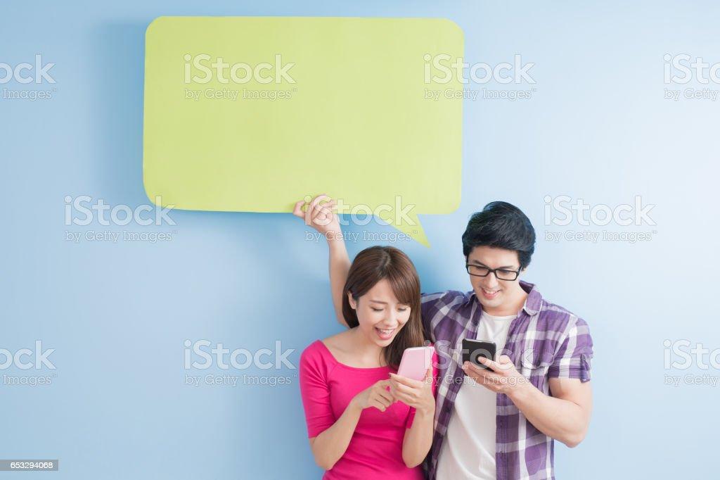 couple take phone stock photo