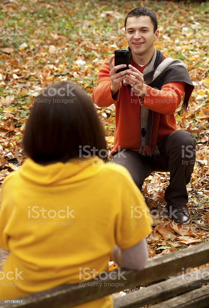 couple taking photo royalty-free stock photo