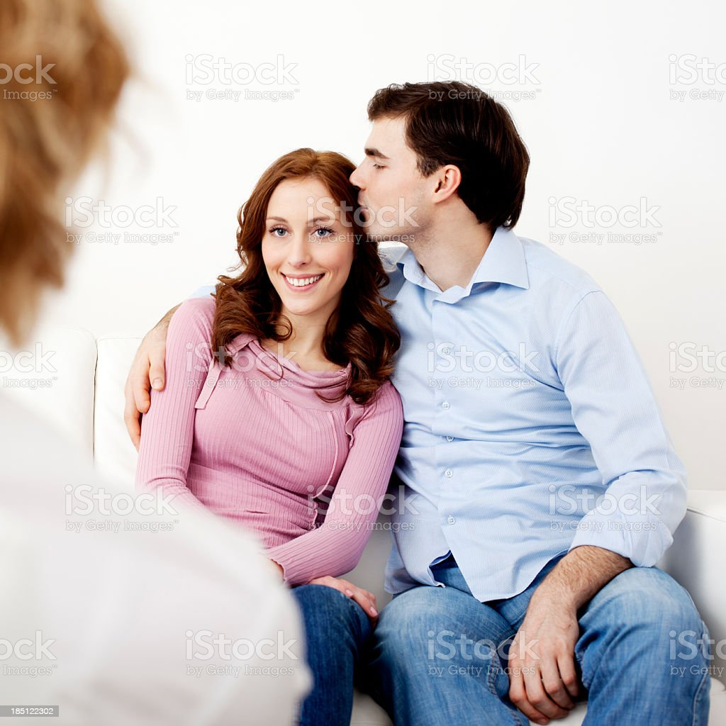 Couple Talking to Counselor royalty-free stock photo