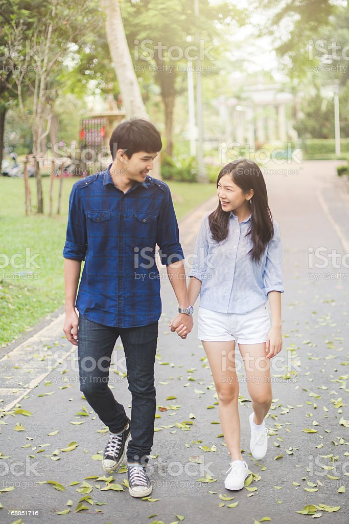 Cute Teenage Couples Holding Hands