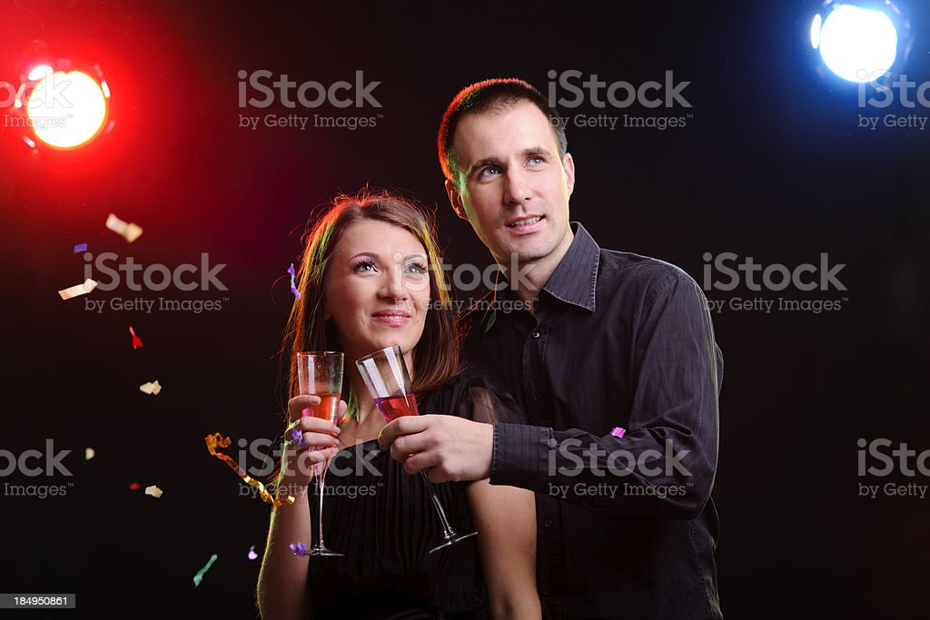 couple toasting royalty-free stock photo