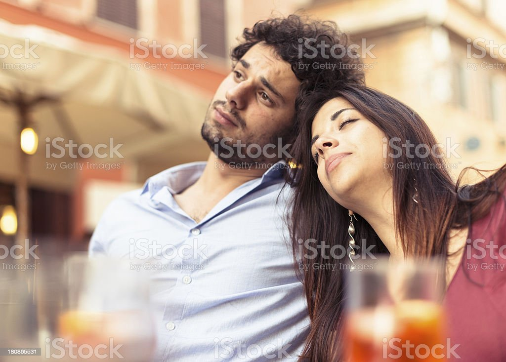 couple togethernes outdoors stock photo