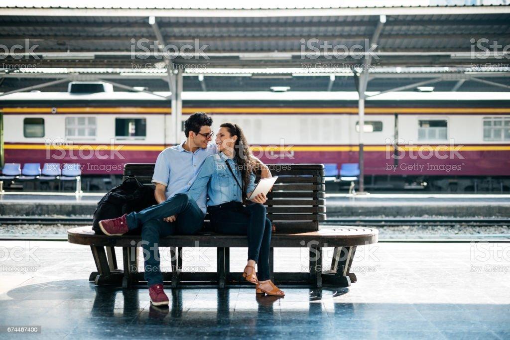 Couple Travel Destination Journey Togetherness Concept stock photo