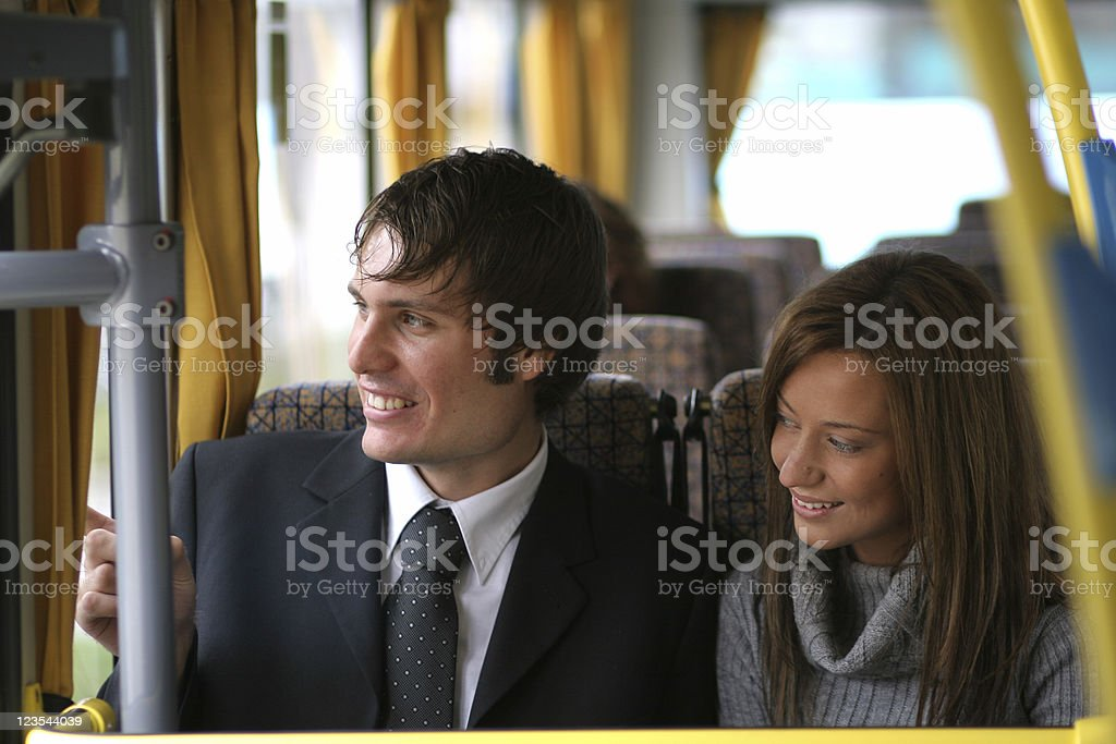 Couple traveling royalty-free stock photo