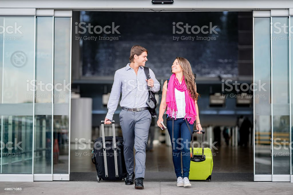Couple traveling stock photo