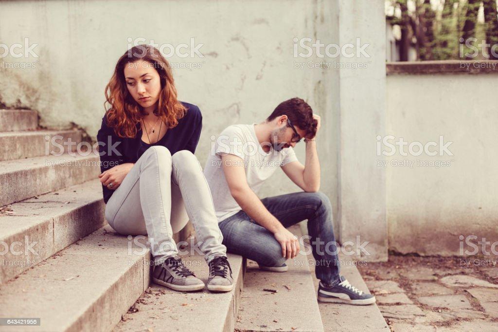 Couple unhappiness stock photo