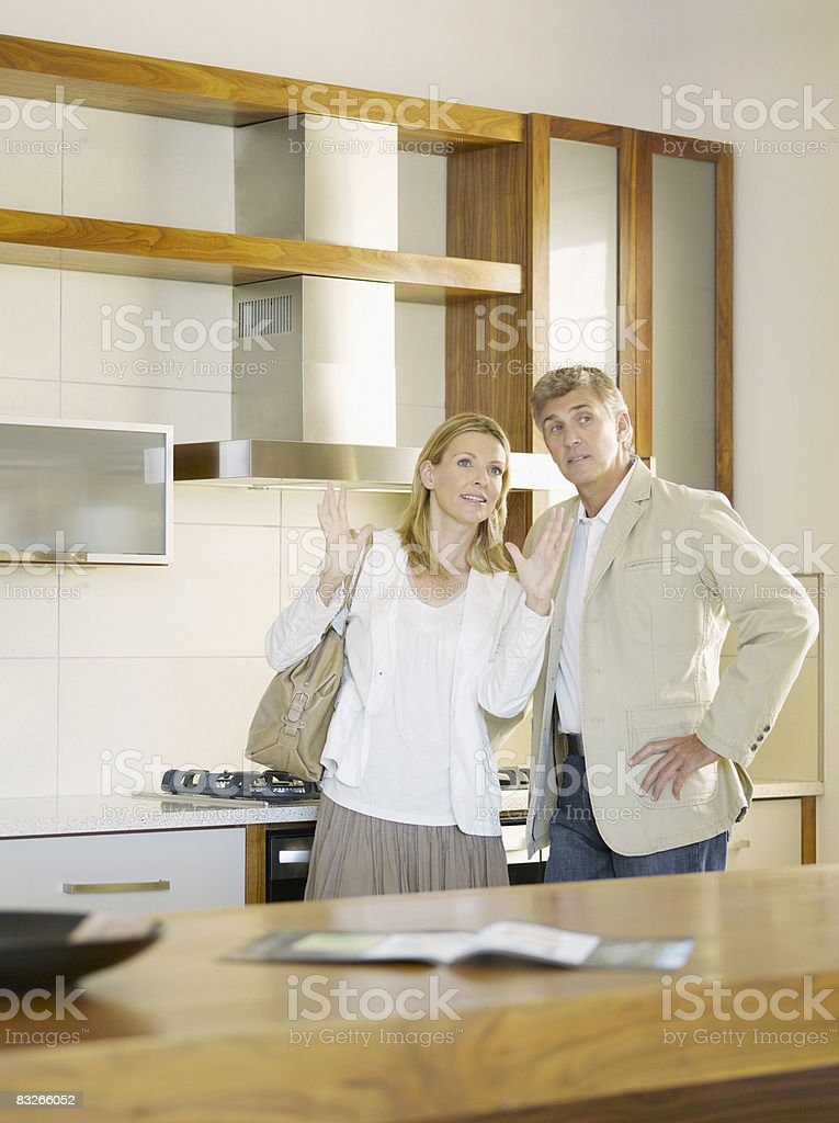 Couple viewing interior design showroom royalty-free stock photo
