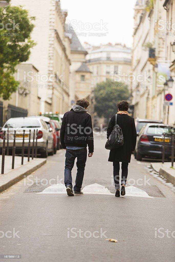 Couple Walking Away stock photo