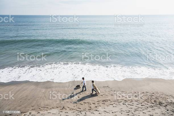 Couple walking dog in the beach picture id1158220036?b=1&k=6&m=1158220036&s=612x612&h=ydb3z7psdlvcwytm1xmnqgm8qgrlmhpt7ypckbcb4zu=