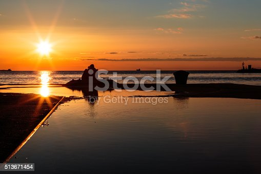 istock couple watching a romantic sunset 513671454