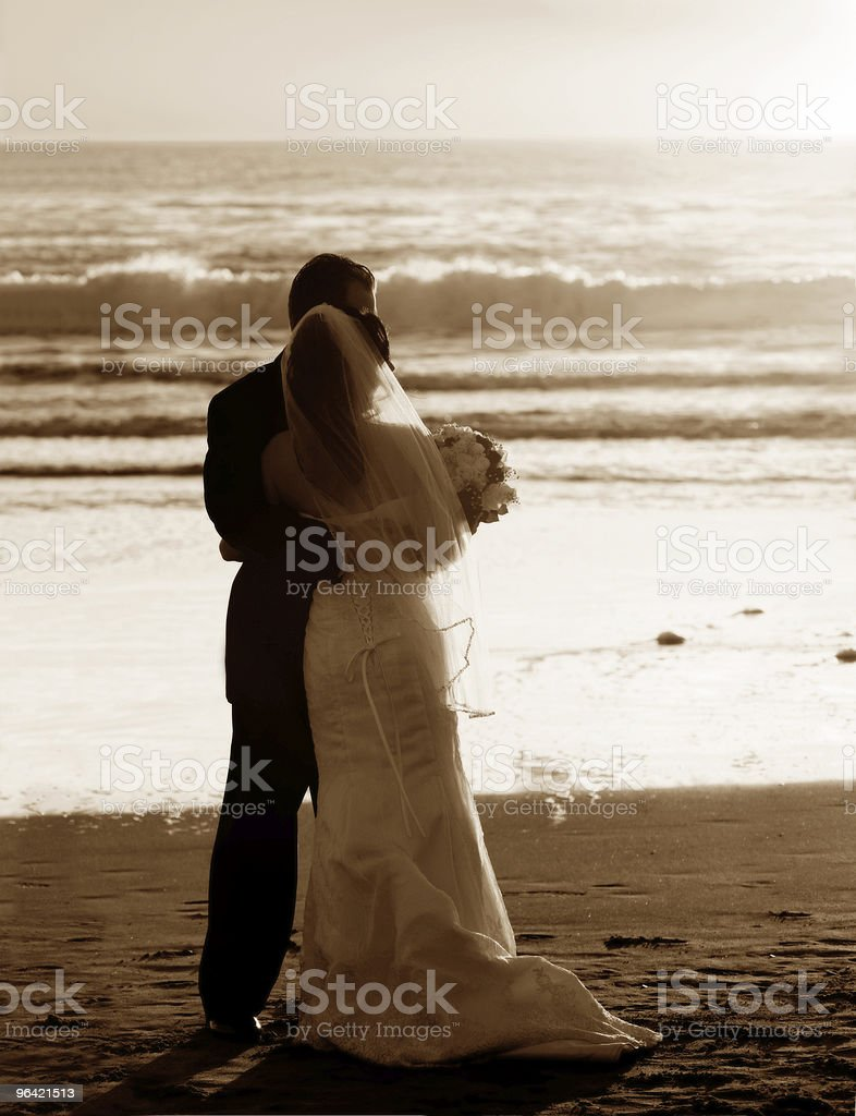 Couple wedding on the beach royalty-free stock photo