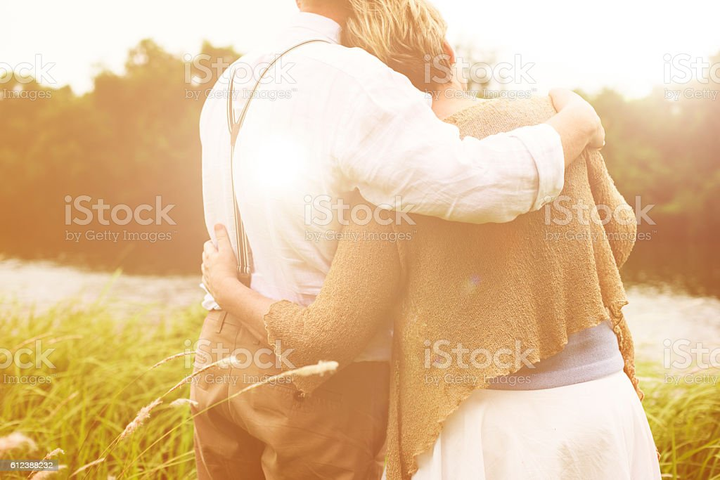 Couple Wife Husband Dating Relaxation Love Concept stock photo