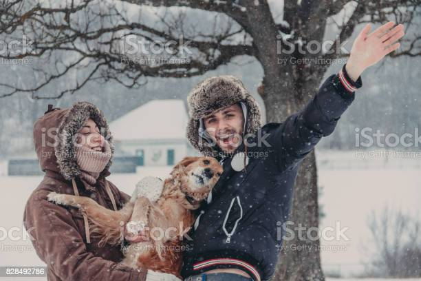 Couple with a dog in winter picture id828492786?b=1&k=6&m=828492786&s=612x612&h=tkqiokyc9cpme4hzj2pjrrjxg0n1pvvjbjr4zzb gla=