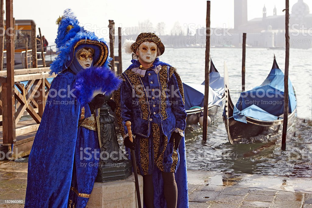 Couple with costume Carnival from Venice royalty-free stock photo