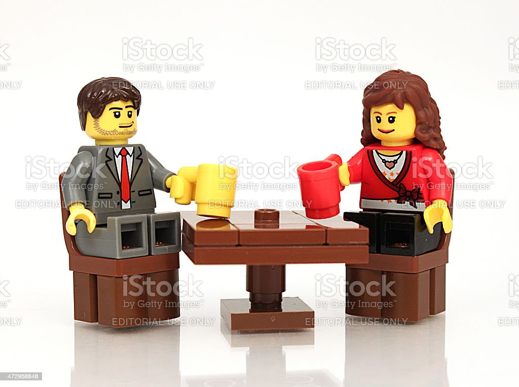 Couple with Drinks stock photo