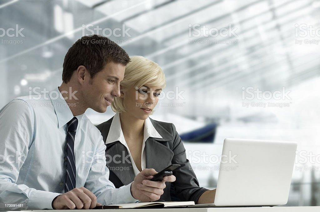 Couple with Laptop royalty-free stock photo