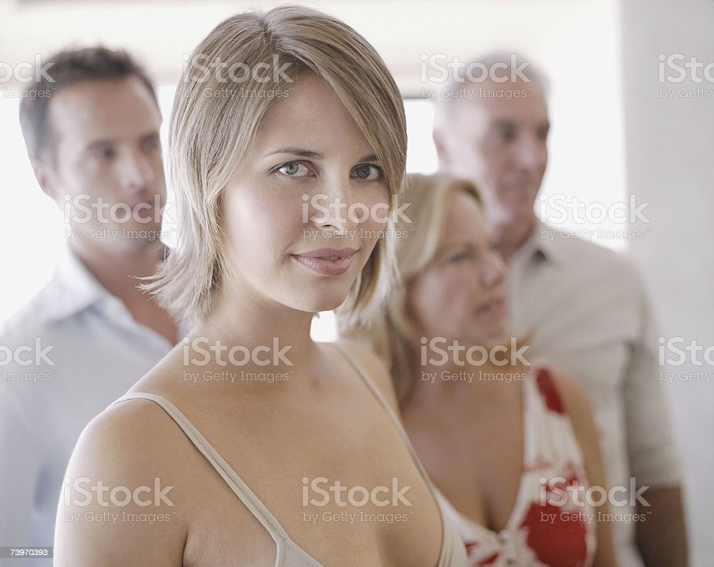Couple with parents royalty-free stock photo