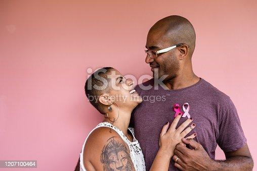 glasses, bald, love, breast cancer, pink october