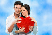 istock Couple with red heart 174752625