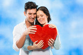 istock Couple with red heart 174754621