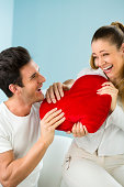 istock Couple with red heart 174901361