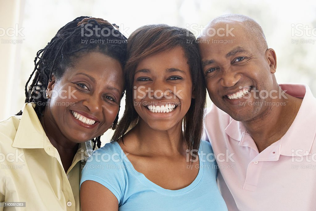 Couple With Their Teenage Daughter stock photo
