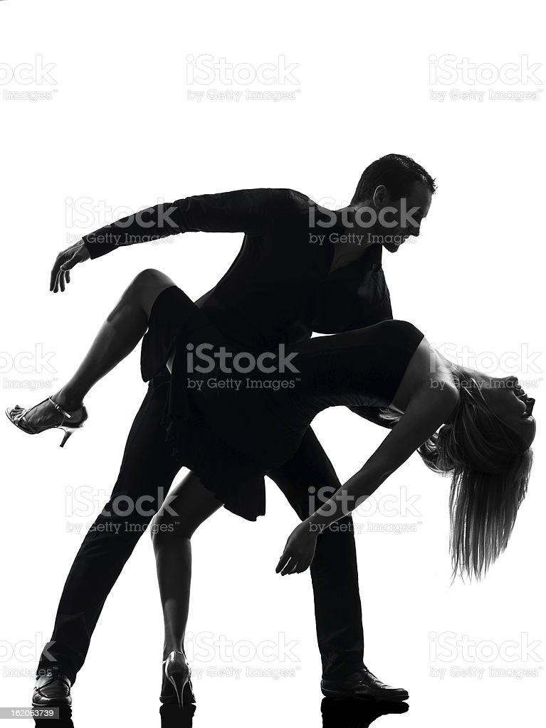 couple woman man dancing dancers salsa rock silhouette stock photo