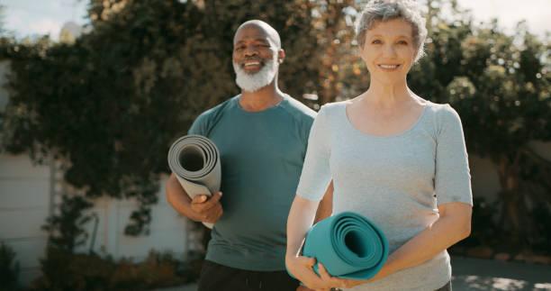 Couple yoga is the best yoga stock photo