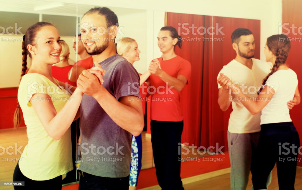 couples dancing Latino dance stock photo