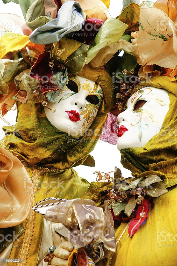 Couples of Venice Carnival Masks. royalty-free stock photo
