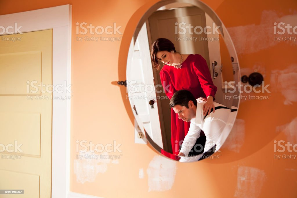 Couple's reflection stock photo
