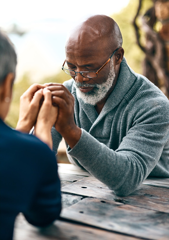 Couples Who Pray Together Stay Together Stock Photo