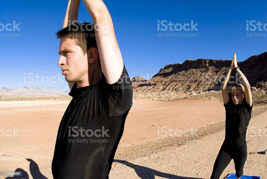Couples Yoga (series) royalty-free stock photo