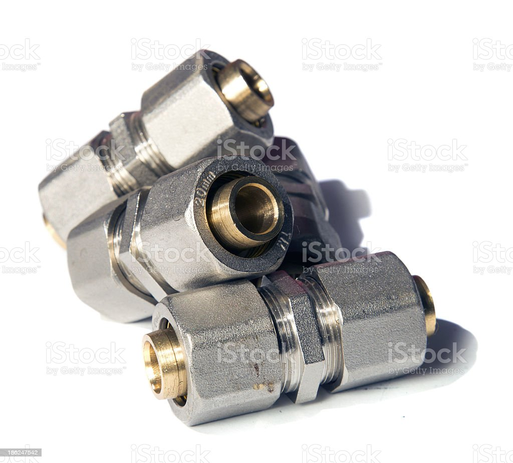 coupling fittings stock photo